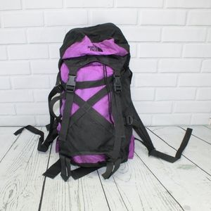 The North Face Purple Black Hiking Backpack Bag